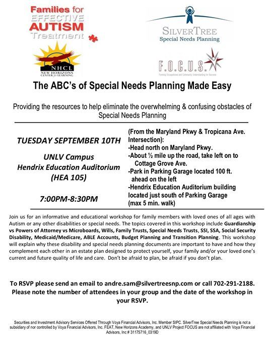 ABC s of Special Needs Planning