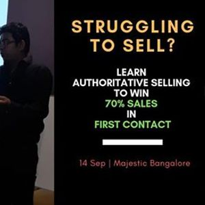Authoritative Sales Training Workshop in Bangalore