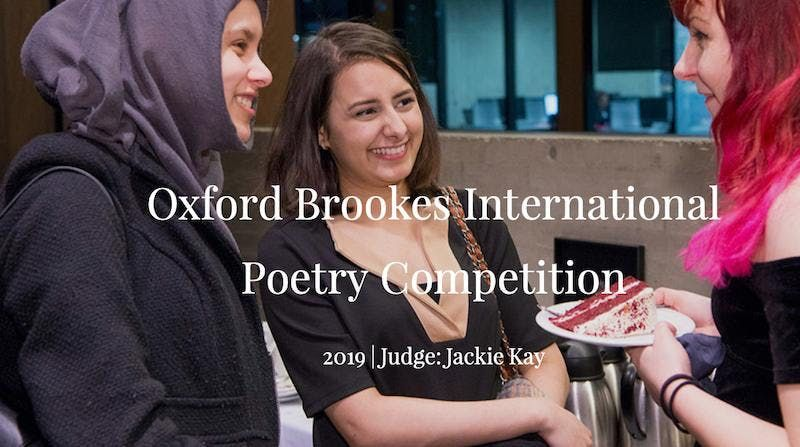 Oxford Brookes International Poetry Competition Awards Evening