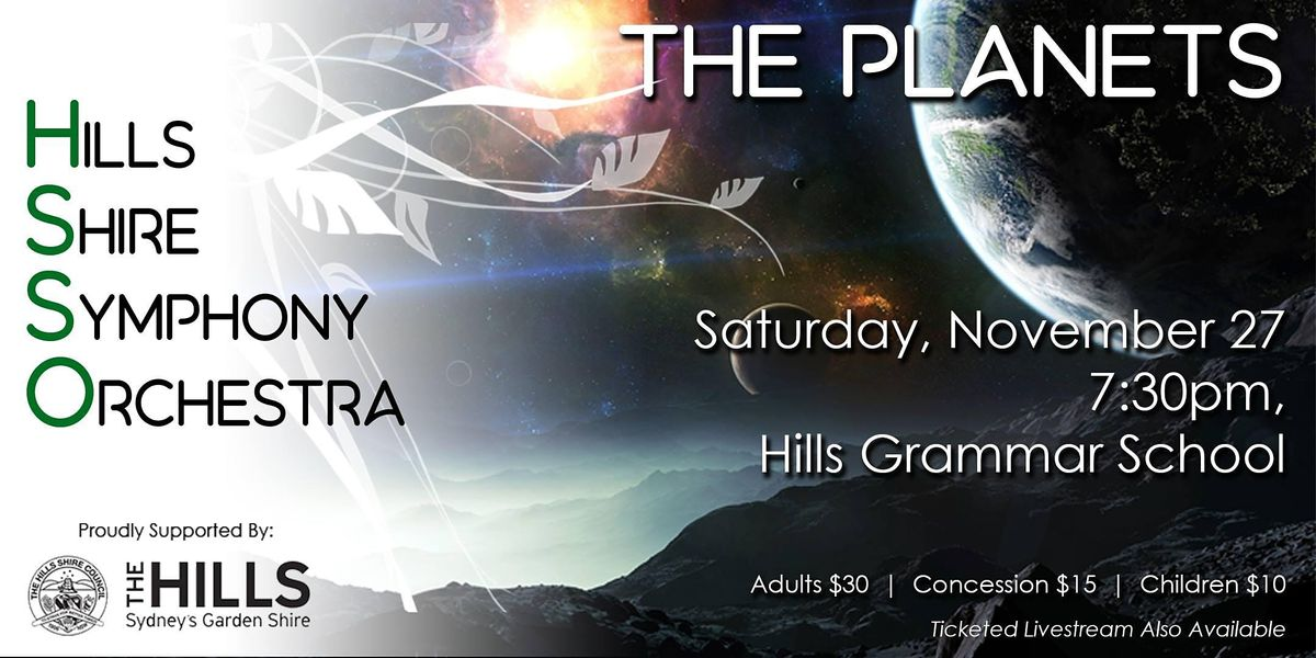 HSSO 3: The Planets, 27 November | Event in Kenthurst | AllEvents.in