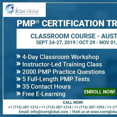 PMP Certification Training Course in Austin TX USA  4-Day PMP Boot Camp with PMI Membership and PMP Exam Fees Included.