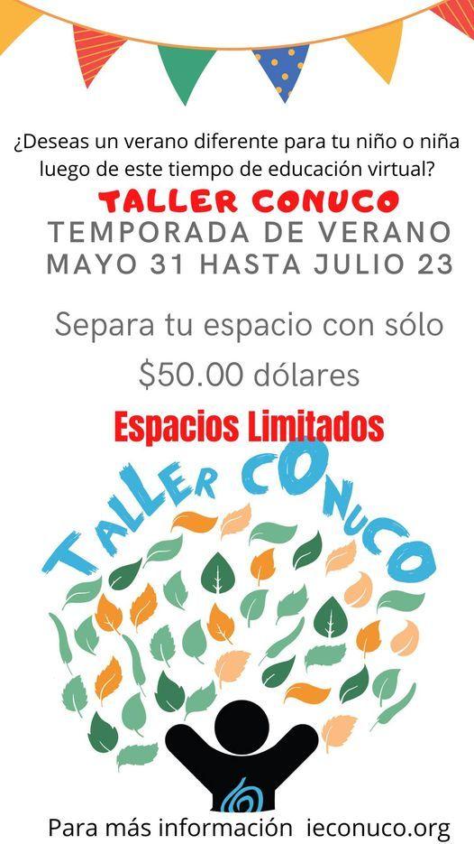 TALLER CONUCO TEMPORADA DE VERANO, 31 May | Event in San Juan | AllEvents.in