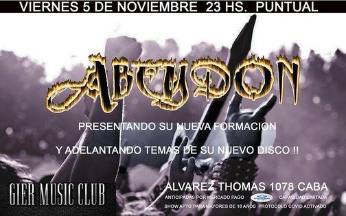 """Abeydon """"Presenta su nueva formación"""", 5 November   Event in Olivos   AllEvents.in"""