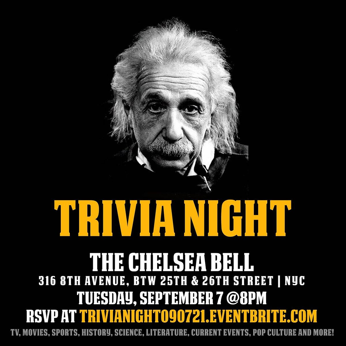 General Trivia Night, 7 September | Event in New York | AllEvents.in
