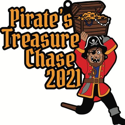 2021 Pirates Treasure Chase 5K 10K 13.1 26.2-Participate from Home.Save 5