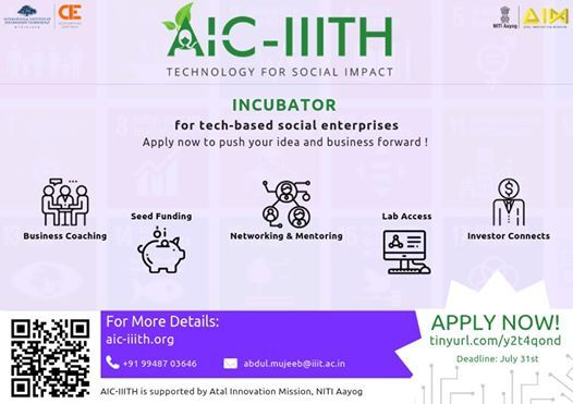 Aic-Iiith Incubation Program