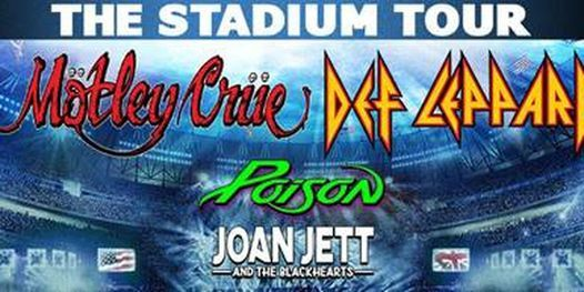 Def Leppard/Mötley Crüe/Poison/Joan Jett and the Blackhearts, 3 July | Online Event | AllEvents.in