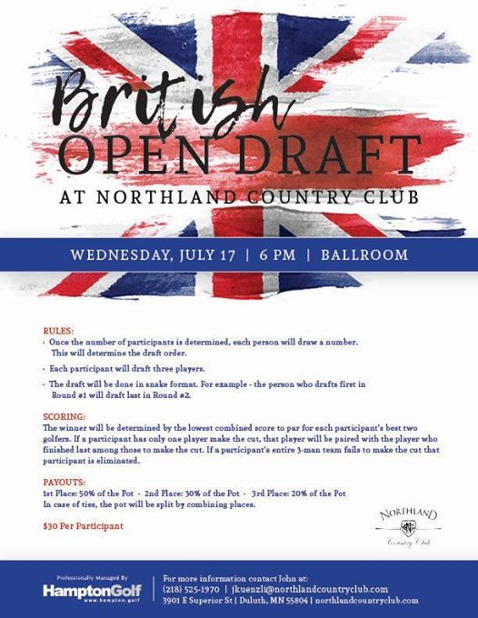 British Open Draft at Northland Country Club, Duluth