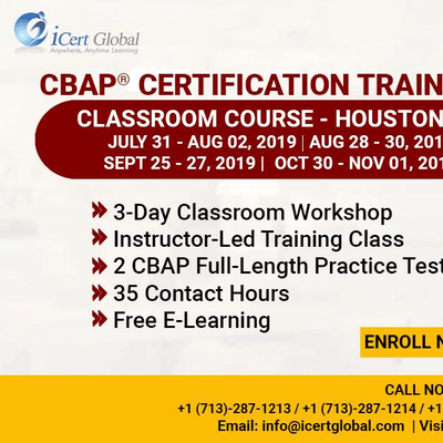 CBAP- (Certified Business Analysis Professional) Certification Training Course in Houston TX USA.