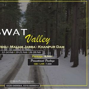 3 Days Trip towards Swat Kalam Malam Jabba Ushu and Khanpur Dam