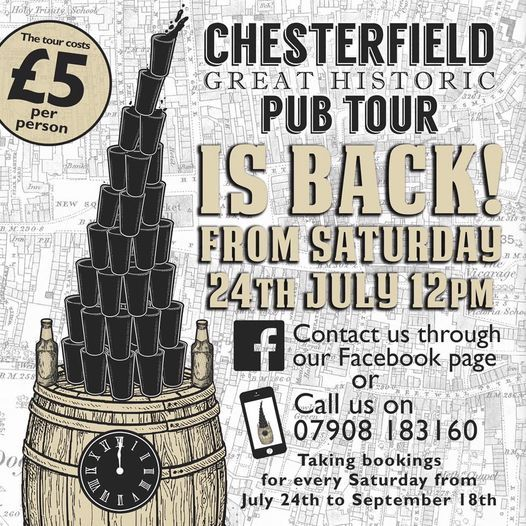 Chesterfield Great Historic Pub Tour - bookings required, 18 September   Event in Chesterfield   AllEvents.in