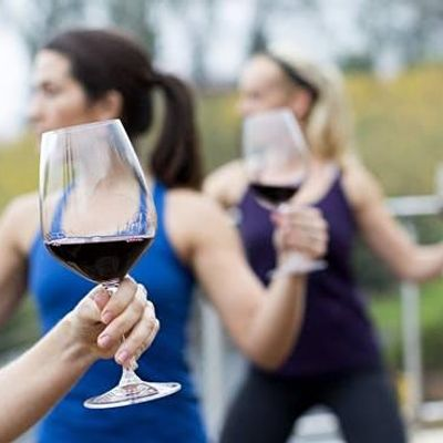 Wine and Yoga with Mecka Fitness