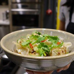 Virtual Cooking Class Shrimp Wontons