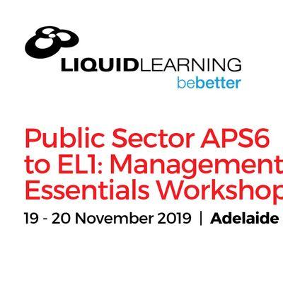 Public Sector APS6 to EL1 Management Essentials Workshop