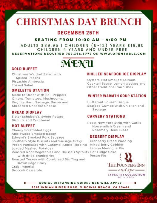 Christmas Day Brunch, The Founders Inn and Spa, Virginia Beach, 25