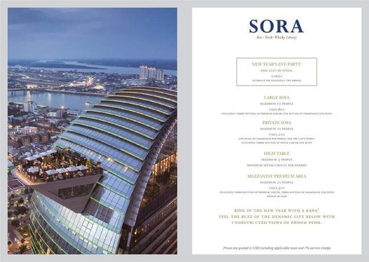 New Year's Eve Celebrations at Sora Skybar, 31 December | Event in Phnom Penh | AllEvents.in