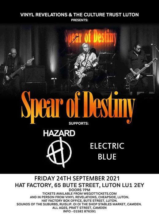 Spear Of Destiny - live at Hat Factory Luton, 24th Sept 2021, 24 September   Event in Cape Town   AllEvents.in