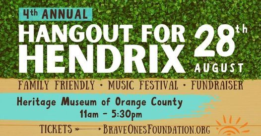 4th Annual Hangout for Hendrix Family Music Festival & Fundraiser, 28 August | Event in Santa Ana | AllEvents.in